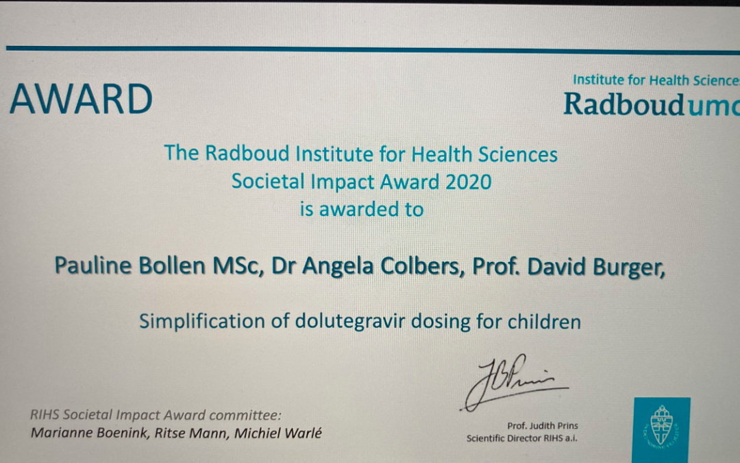 ODYSSEY team at Radboud receives the RIHS Societal Award 2020